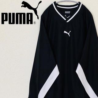 プーマ(PUMA)の古着☆人気 プーマ スウェット ワンポイント刺繍ロゴ ポリエステル ブラック(スウェット)