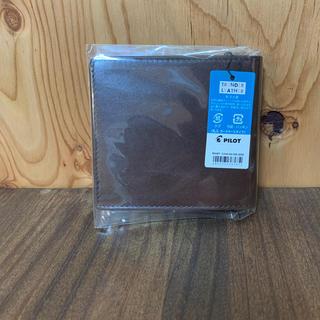 パイロット(PILOT)の牛ヌメ革 札入れ カードケースタイプ ブラウン パイロット(折り財布)
