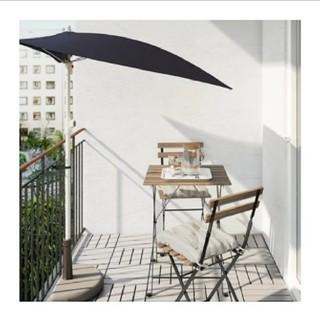 イケア(IKEA)の【美品】イケア ガーデンテーブル チェア ウッド ナチュラル(ダイニングテーブル)