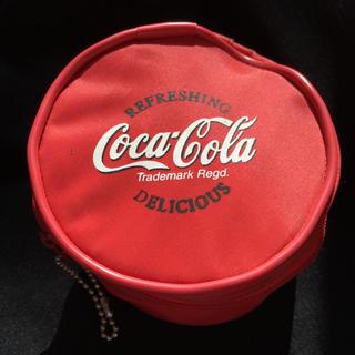 コカコーラ(コカ・コーラ)のコカコーラ コカ・コーラ レトロ ポーチ 円形(ノベルティグッズ)