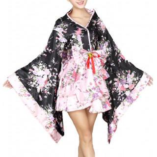 04fec48555f00  新品 セクシー 着物 メイド服 花魁 コスチューム ピンク(ナイトドレス)