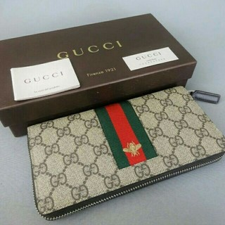 576e4a7ea37d Gucci - GUCCI シマ 長財布の通販 by ルミエル's shop|グッチならラクマ