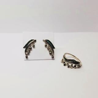 シルバー925イヤリングと指輪セット(リング(指輪))