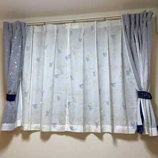 ディズニー(Disney)の遮光カーテン&遮像ボイルカーテンセット ディズニー  (カーテン)