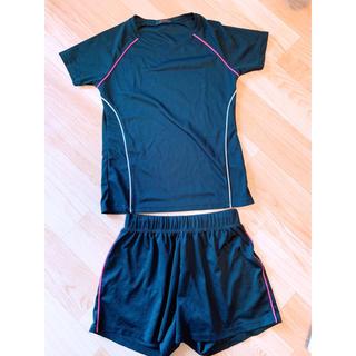 ジーユー(GU)のguスポーツ 上下セット 半袖 ショートパンツ(ウェア)