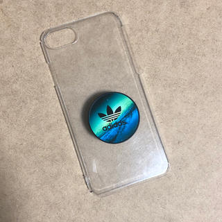 アディダス(adidas)のポップソケット  iPhone8ケース クリアケース(iPhoneケース)