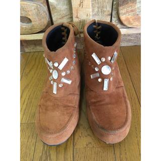 ザラ(ZARA)の♡本日限定お値下♡ビジュー ブーツ♡セレクトショップ購入 M ブラウン(ブーツ)