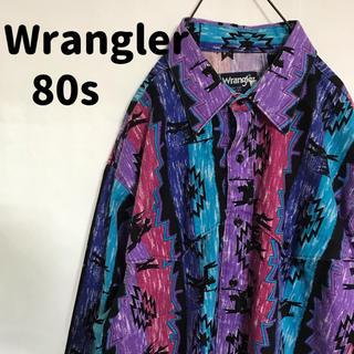 ラングラー(Wrangler)の希少 ラングラー 80s 奇抜 総柄 マルチカラー ヴィンテージ usa制(シャツ)
