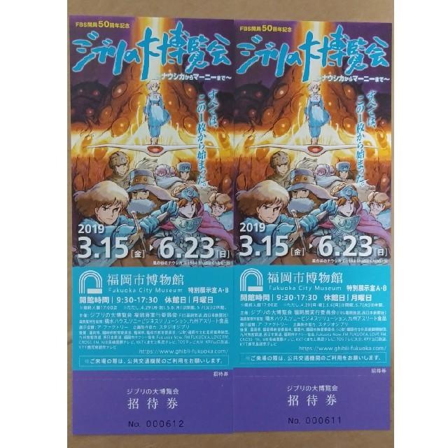 ジブリ(ジブリ)のジブリの大博覧会(福岡市博物館) チケット2枚組 チケットの施設利用券(美術館/博物館)の商品写真