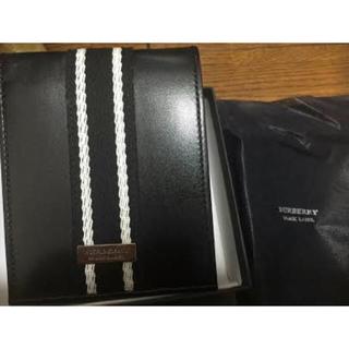 バーバリーブラックレーベル(BURBERRY BLACK LABEL)の★Burberry BLACK men's 二つ折り財布(折り財布)