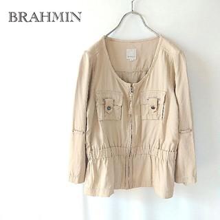 ブラーミン(BRAHMIN)のBRAHMIN ブラーミン ノーカラージャケット ブルゾン 日本製 40(ノーカラージャケット)