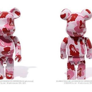 A BATHING APE - ベアブリック BE@RBRICK ABC CAMO ピンク 1000%
