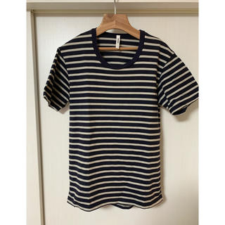 アタッチメント(ATTACHIMENT)のATTACHMENT ボートネックボーダーカットソー(Tシャツ/カットソー(半袖/袖なし))