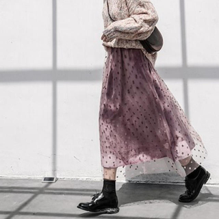 ディーホリック(dholic)のチュールスカート(ロングスカート)