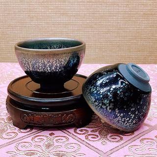 【茶道具】建盞(小天目茶碗)7.5~5cm(陶芸)