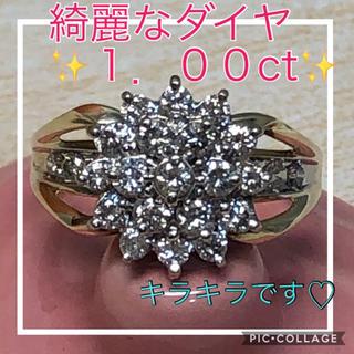 ♡大特価♡ ☆新品仕上げ済☆✨1.00ct✨フラワーダイヤモンド リング 16号(リング(指輪))