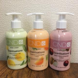 シーエヌディー(CND)の専用☆3本セット CND センセーション(ボディローション/ミルク)