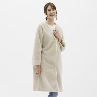ジーユー(GU)の【新品】GUボアガウンコート(毛皮/ファーコート)