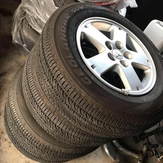 ミツビシ(三菱)のデリカD5 純正ホイールタイヤ 4本セット(タイヤ・ホイールセット)