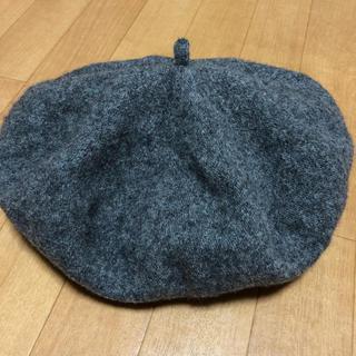 ムジルシリョウヒン(MUJI (無印良品))の無印良品 ベレー帽 グレー(ハンチング/ベレー帽)