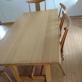 銘柄品 ゆったり らくらく ダイニングテーブル 疲れない椅子 セット(ダイニングテーブル)