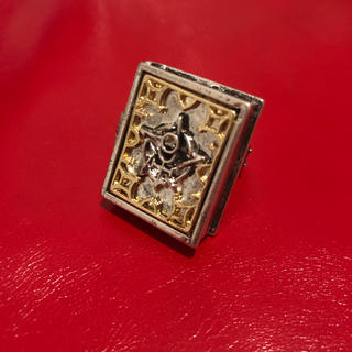 ♱ Vintage silver gothic magic book ring(リング(指輪))