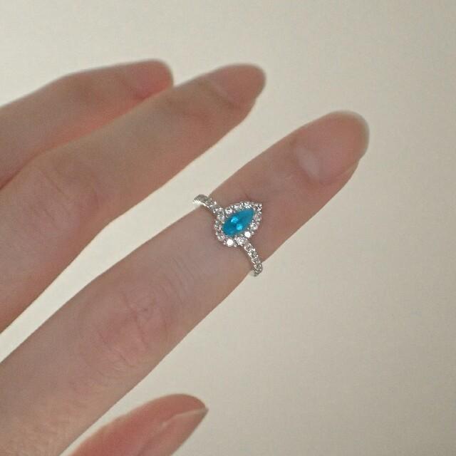 バターリャ産 パライバトルマリン 0.24ct ピンキーリング レディースのアクセサリー(リング(指輪))の商品写真