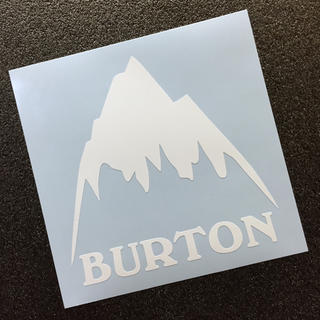 バートン(BURTON)の▲BURTON▲ バートン マウンテンモチーフ カッティングステッカー 送料無料(アクセサリー)