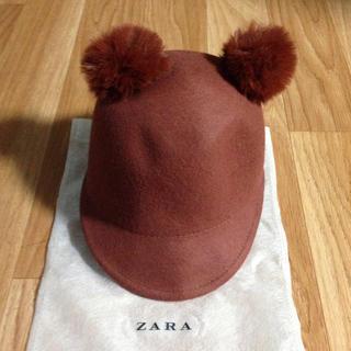 ザラ(ZARA)の☆zara kids☆ポンポン付ハット(帽子)
