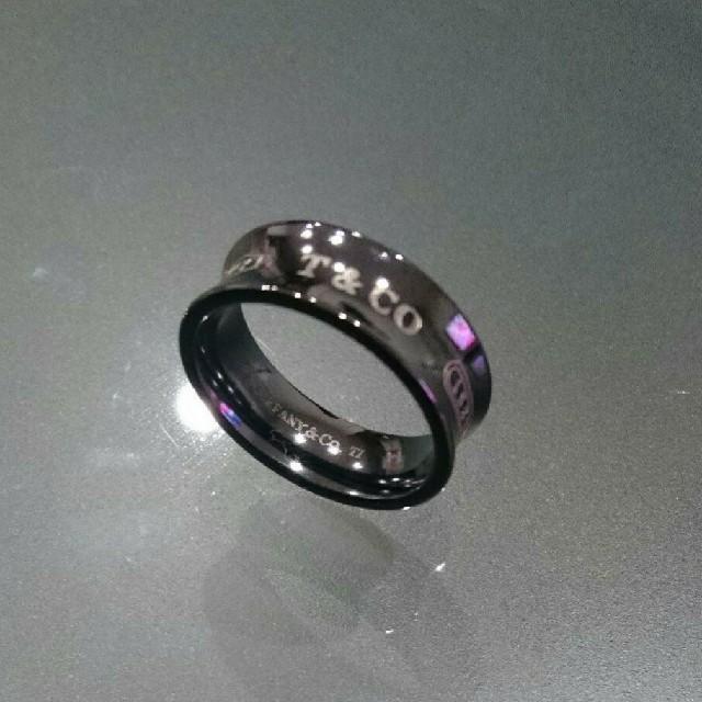 Tiffany & Co.(ティファニー)のティファニー ブラックチタンリング メンズのアクセサリー(リング(指輪))の商品写真