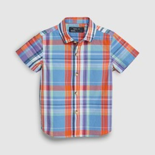 ネクスト(NEXT)の新品!ネクスト チェックシャツ◇ブルー オレンジ(シャツ/カットソー)