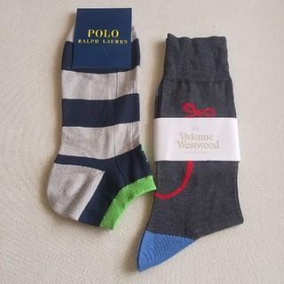 ヴィヴィアンウエストウッド(Vivienne Westwood)のPOLO・ヴィヴィアンウエストウッド 靴下2足セット(ソックス)
