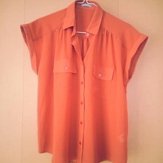 GU(ジーユー)のシフォンブラウス♡ レディースのトップス(シャツ/ブラウス(半袖/袖なし))の商品写真
