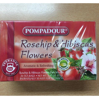 ポンパドール(POMPADOUR)のPOMPADOUR ローズヒップ&ハイビスカスティー ティーバッグ(茶)