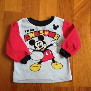 ディズニー(Disney)のディズニー ミッキー フリース トレーナー 80(トレーナー)