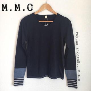 メルロー(merlot)のM.M.O 袖切り替え長袖カットソー  ロンT  *ネイビー(Tシャツ(長袖/七分))