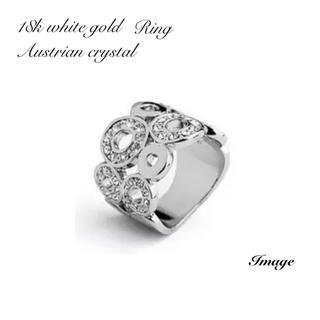 リング ホワイトゴールドとオーストリアンクリスタル(リング(指輪))