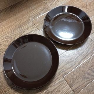 イッタラ(iittala)の廃盤ティーマ  ブラウン21cm2枚セット(食器)
