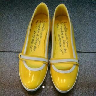 レディース⭐パンプス⭐レインシューズ⭐イエロー⭐M⭐(レインブーツ/長靴)