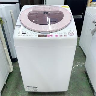 シャープ(SHARP)の⭐︎SHARP⭐︎全自動洗濯機 2016年 8kg 温風乾燥 大阪市近郊配送無料(洗濯機)