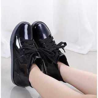 【超かわ】レインシューズ ブーツ ハイカットスニーカー 黒24.5 長靴 防水(レインブーツ/長靴)