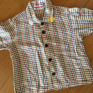 ミキハウス(mikihouse)の美品♡ミキハウスチェック柄シャツ(ジャケット/上着)