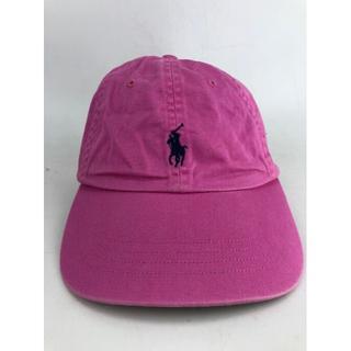 ラルフローレン(Ralph Lauren)のポロ ラルフローレン キャップ メンズ ピンク×ネイビー USED(キャップ)