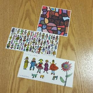 草間彌生 ポストカード 3枚セット(写真/ポストカード)
