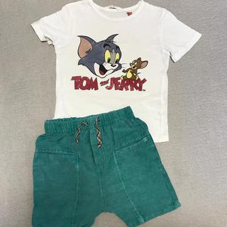 ザラ(ZARA)のお値下げ ZARA baby パンツ&H&M Tシャツ セット 95㎝(パンツ/スパッツ)