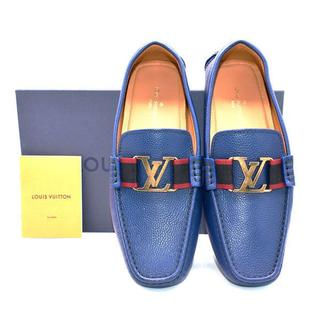 ルイヴィトン(LOUIS VUITTON)の新品/本物☆Louis Vuitton MONTECARLO シューズ BLU(スリッポン/モカシン)