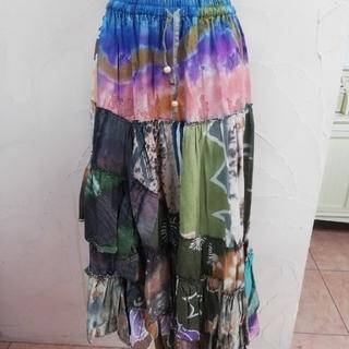 エルロデオ(EL RODEO)のエルロデオ ツギハギ スカート(ロングスカート)