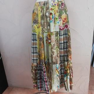 エルロデオ(EL RODEO)のエルロデオ リバーシブル スカート ツギハギ(ロングスカート)