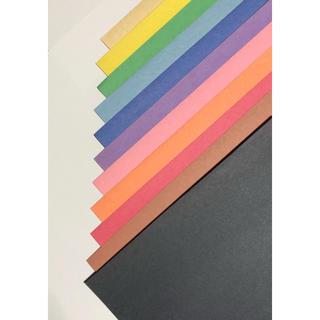 【訳あり】色画用紙 12色 45枚(スケッチブック/用紙)