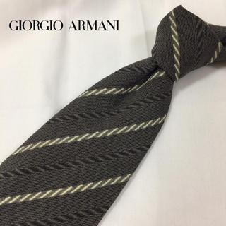 ジョルジオアルマーニ(Giorgio Armani)のウサギママ様専用!!ジョルジオアルマーニ ストライプ柄綱模様 伊製 シルク(ネクタイ)